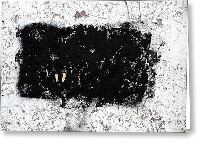 Black And White Abstraction Greeting Card by JoAnn Lense