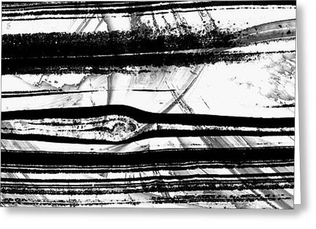 Black And White Art - Layers - Sharon Cummings Greeting Card by Sharon Cummings