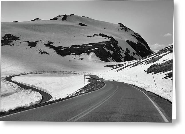 Black And White Beartooth Highway Greeting Card by Dan Sproul