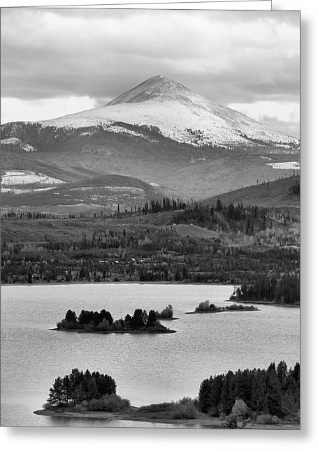 Greeting Card featuring the photograph Black And White Breckenridge by Dan Sproul