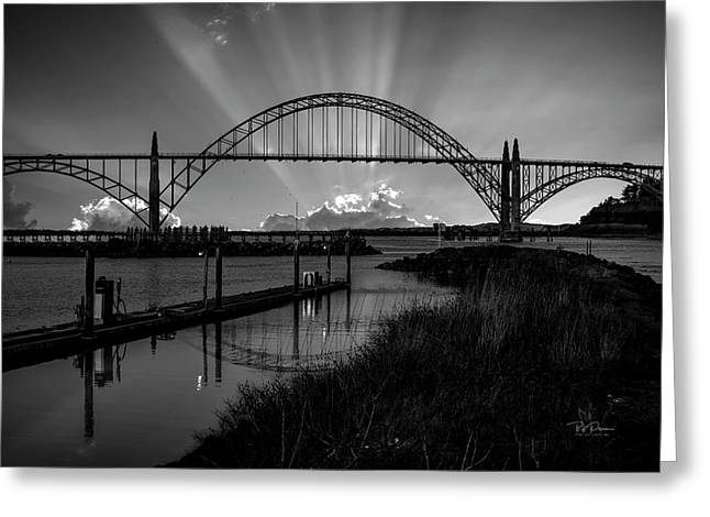 Black And White Bridge Greeting Card