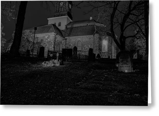 Black And White By Night 2 Greeting Card by Leif Sohlman