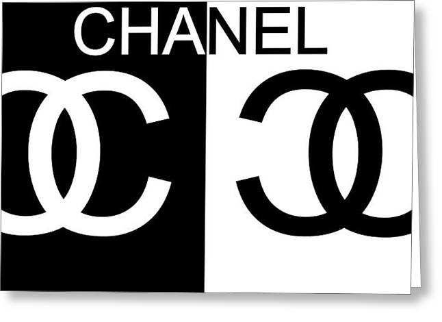 Black And White Chanel 2 Greeting Card