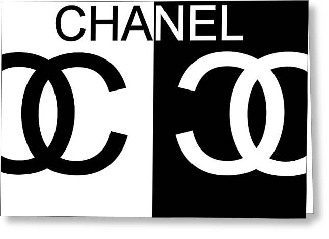 Black And White Chanel Greeting Card