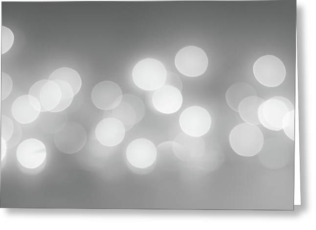 Black And White Circle Abstract  Greeting Card by Terry DeLuco