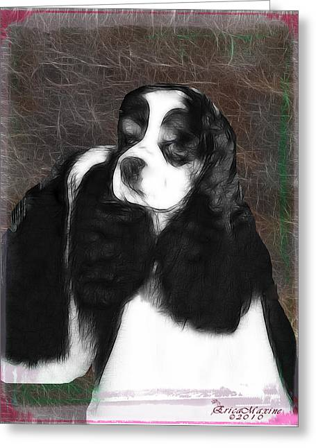 Black And White Cookie Greeting Card by EricaMaxine  Price