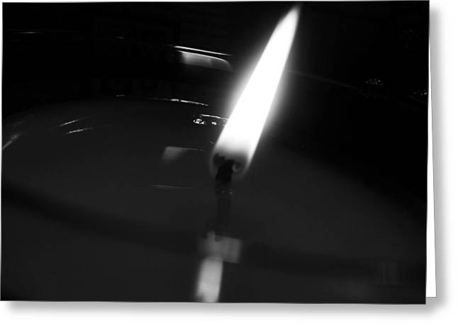 Black And White Flame Greeting Card