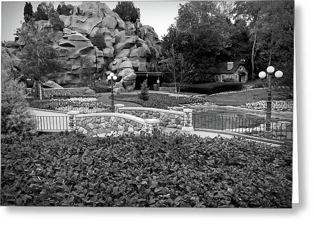 Greeting Card featuring the photograph Black And White Flower Garden Walkway by Aimee L Maher Photography and Art Visit ALMGallerydotcom