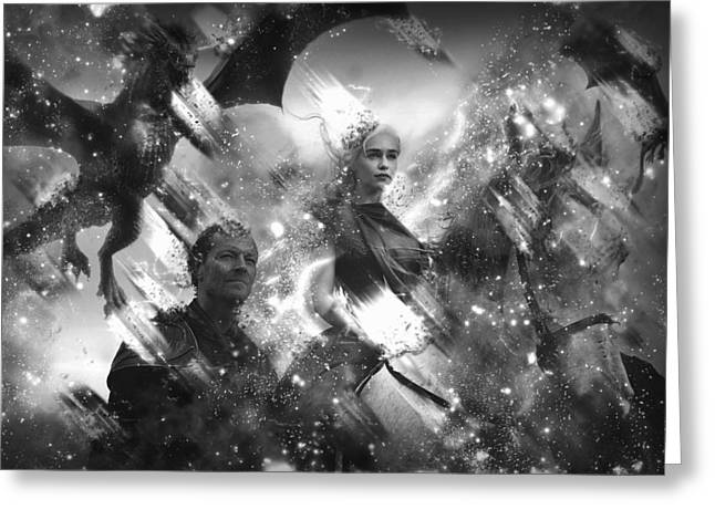 Black And White Games Of Thrones Another Story Greeting Card