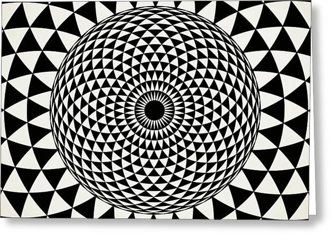 Black And White  Mandala Art Greeting Card