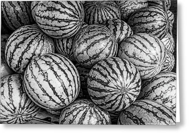 Black And White Mellons Greeting Card