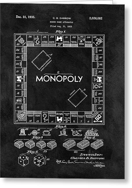 Black And White Monopoly Game Patent Greeting Card