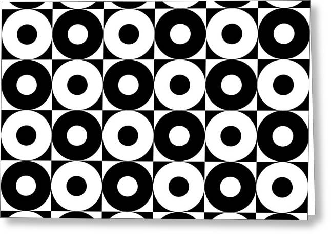 Black And White Pattern   Greeting Card by Mark Ashkenazi