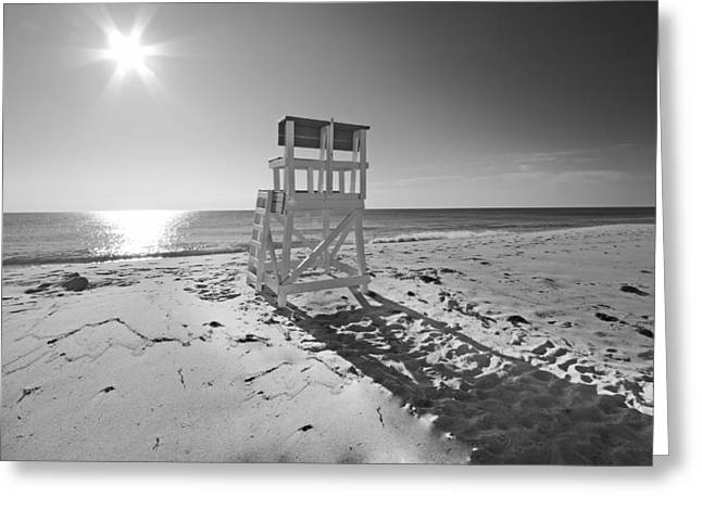 Black And White Photography The Beach Greeting Card by Dapixara Art