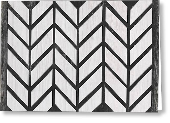 Black And White Quilt Greeting Card by Debbie DeWitt