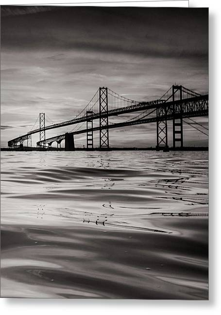 Greeting Card featuring the photograph Black And White Reflections 2 by Jennifer Casey