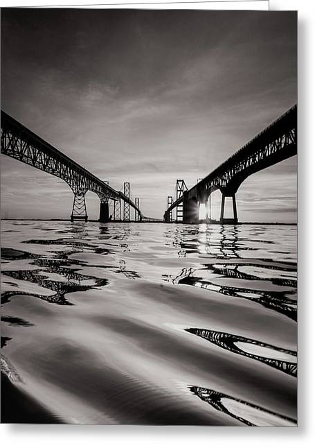 Black And White Reflections Greeting Card by Jennifer Casey