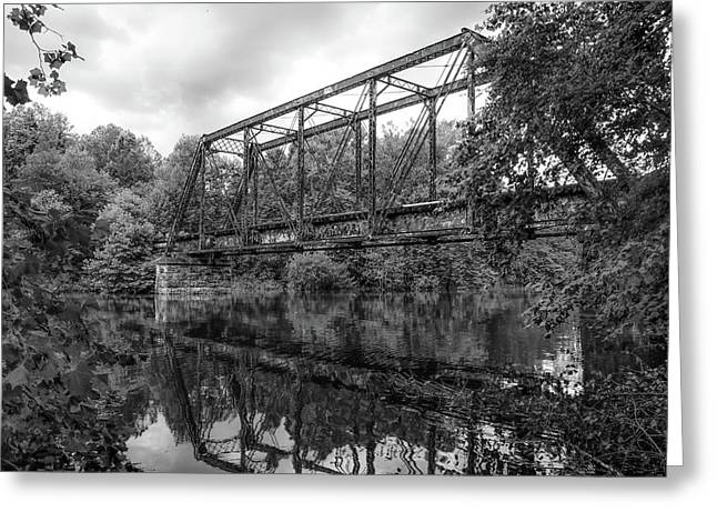 Black And White Reflections Greeting Card