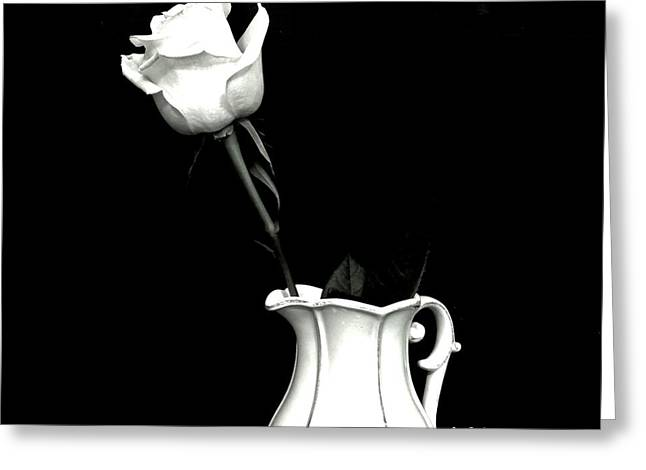 Black And White Rose Three Greeting Card by Marsha Heiken