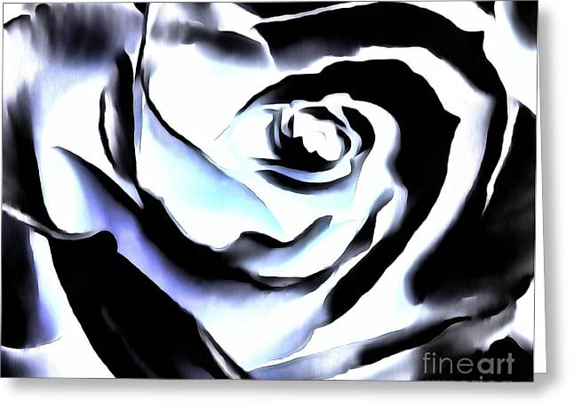 Greeting Card featuring the photograph Black And White Rose - Till Eternity by Janine Riley