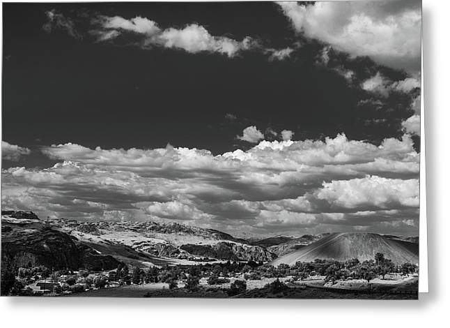 Black And White Small Town  Greeting Card