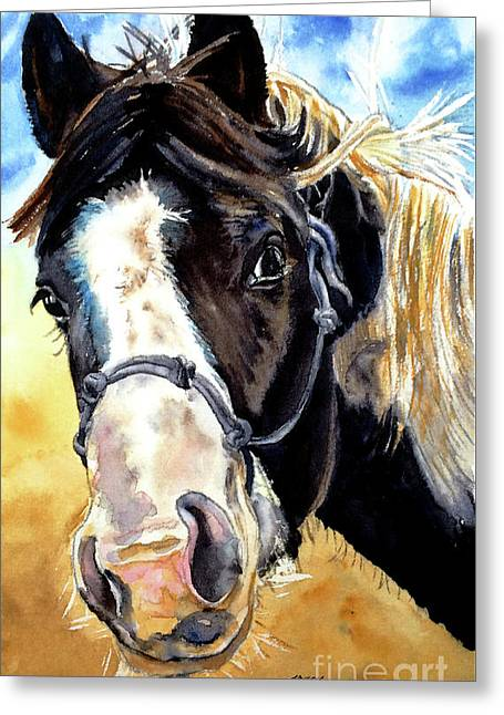 Black And White Greeting Card by Tracy Rose Moyers