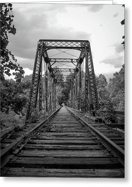 Black And White Trestle Greeting Card