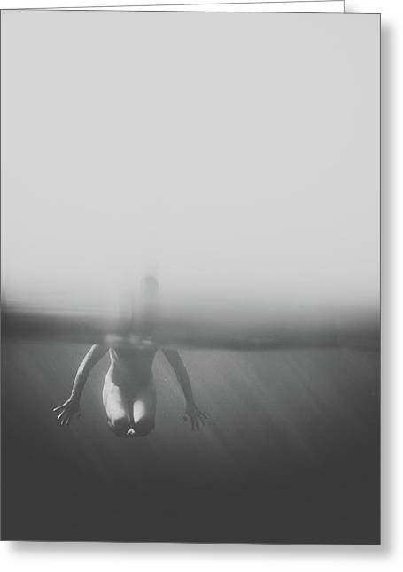 Black And White Underwater Greeting Card