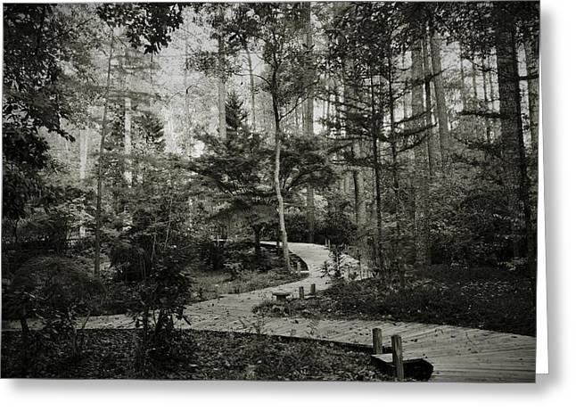 Black And White Vintage Edit -walk In Peace  Greeting Card