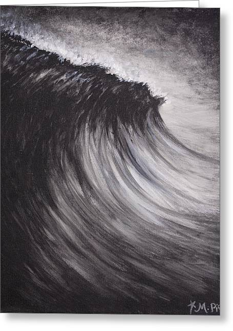 Black And White Wave Guam Greeting Card