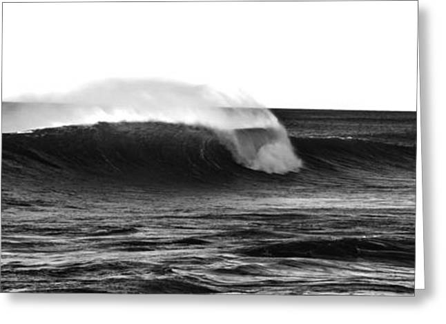 Black And White Wave Greeting Card by Pelo Blanco Photo