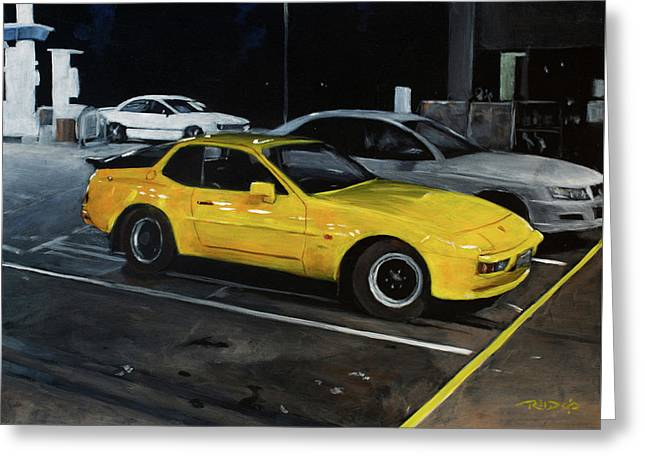 Black And Yellow Greeting Card by Christopher Reid