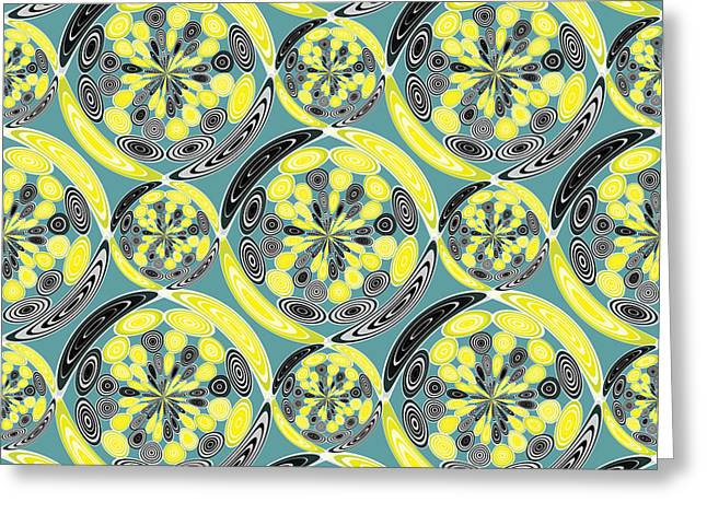 Black And Yellow Pattern Greeting Card