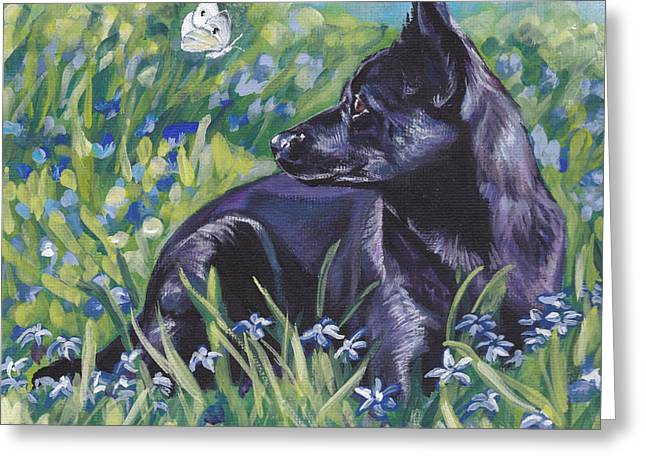 Black Australian Kelpie Greeting Card