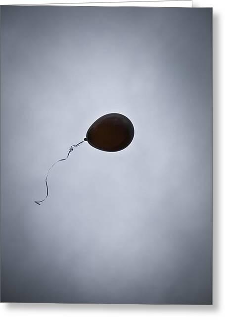 Black Balloon Greeting Card