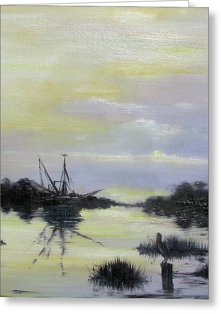 Black Bayou Greeting Card by Judy Merrell