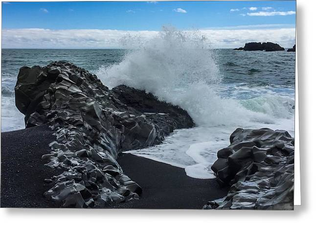 Greeting Card featuring the photograph Black Beach In Iceland by Chris Feichtner