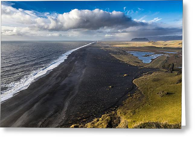 Black Beach Greeting Card