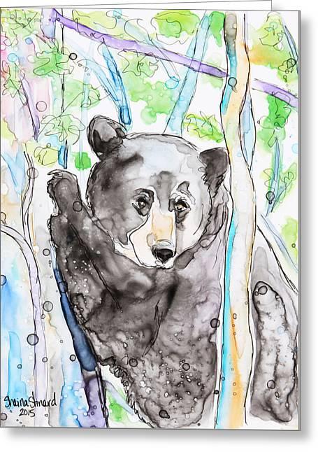 Black Bear On The Bruce Greeting Card