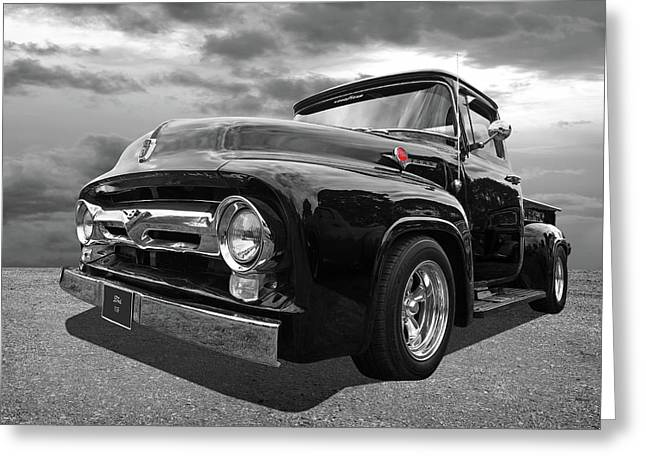 Black Beauty - 1956 Ford F100 Greeting Card