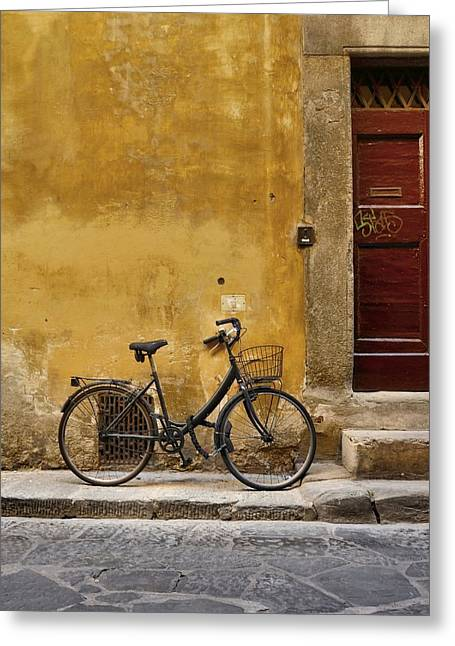 Black Bike Greeting Card