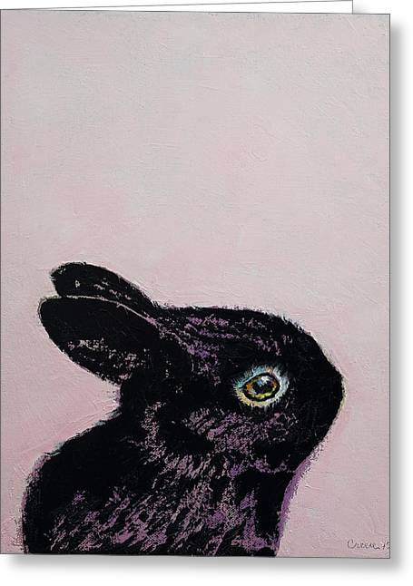 Black Bunny Greeting Card