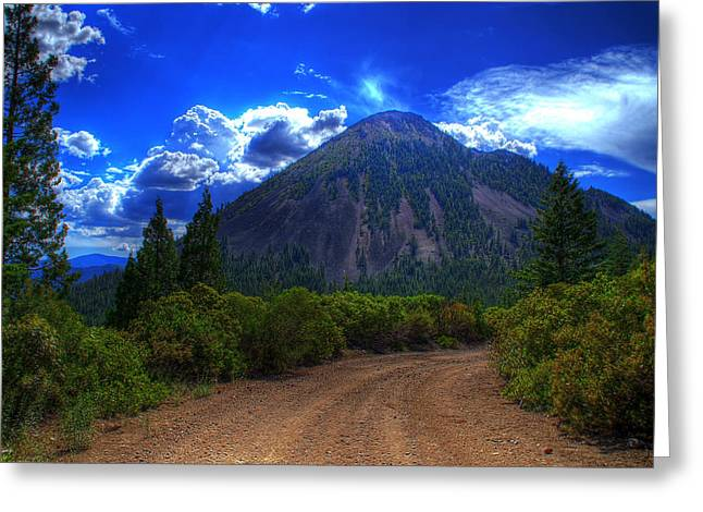 Black Butte Greeting Card by Tom Melo