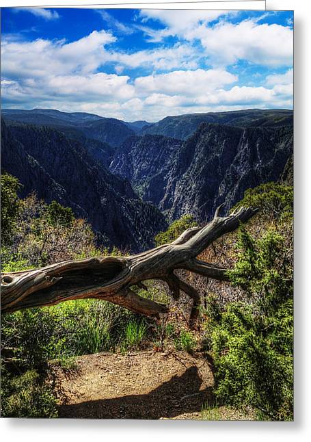 Black Canyon Of The Gunnison First Look Greeting Card