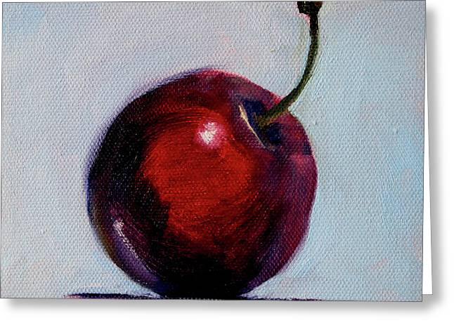 Greeting Card featuring the painting black Cherry by Nancy Merkle