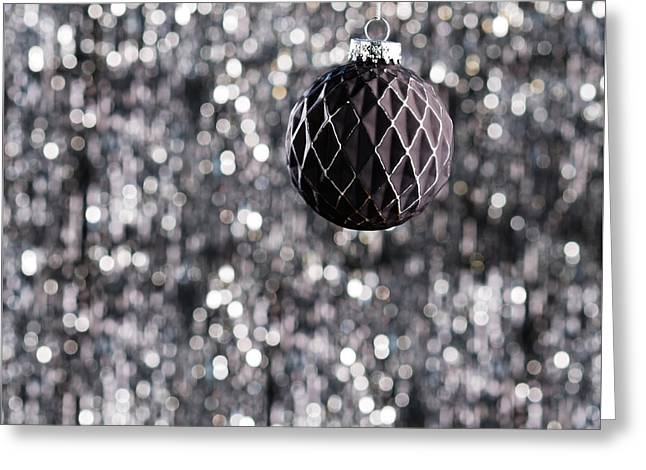 Greeting Card featuring the photograph Black Christmas by Ulrich Schade