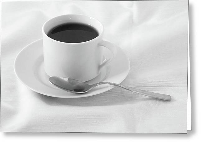 Black Coffee Greeting Card by Luke Luther