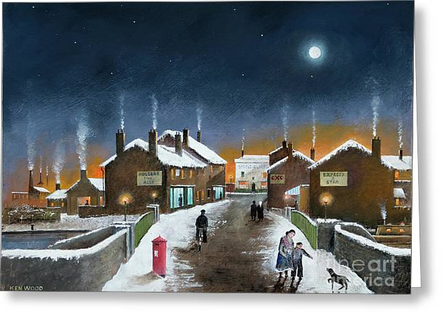 Black Country Winter Greeting Card