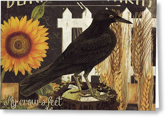 Black Crow Farms Greeting Card by Mindy Sommers