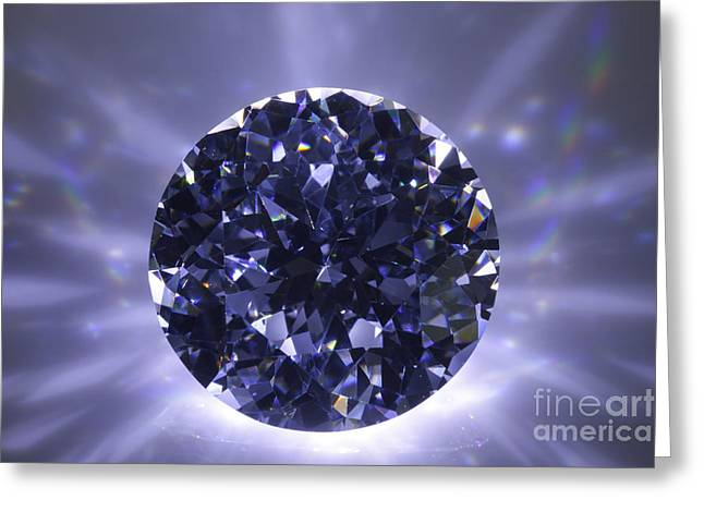 Black Diamond Shine Aura. Greeting Card by Atiketta Sangasaeng